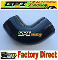 "Silicone 90 degree Elbow hose ID64mm 2.5"" inch Turbo INTERCOOLER PIPE Black"