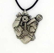 ENGLISH PEWTER - MECHANICAL HEART - PENDANT NECKLACE STEAMPUNK