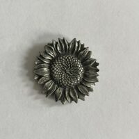 Sunflower Pin Vintage Button Pinback Flower Nature Wild