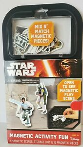 Star Wars Magnetic Activity Fun Set by Disney with scene board and 16 magnets