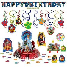 Paw Patrol Party Decoration Supplies Birthday Pack with Banner and cake candles