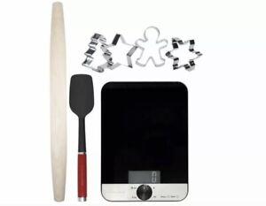 KitchenAid KX403BX Backset Küchenwaage Teigroller Plätzchen Formen   UVP: 99€