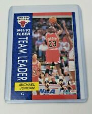 1992 Fleer Michael Jordan  375 Team Leader Chicago Bulls