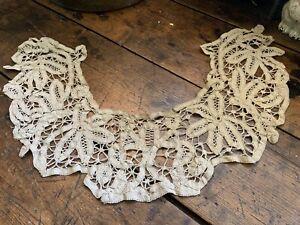 Antique Vintage Tape Lace Collar