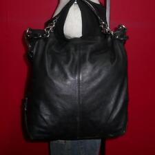 COACH Large Black Leather 'BROOKE' Hobo Bucket Tote Purse Shoulder Bag #14821