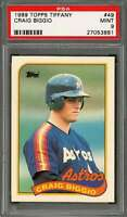 1989 topps tiffany #49 CRAIG BIGGIO houston astros rookie card PSA 9