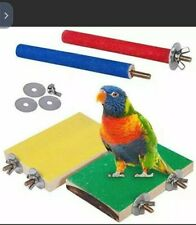4 PCS Perches for Bird Cages Bird Perch Stand Toy Wood Parrot Paw Grinding Stick