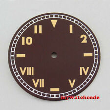 38.9mm coffee California dial orange pure sterile fit ETA 6497 6497 mens watch49