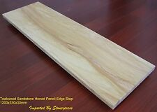 Teak Wood Sandstone Honed Step 1200x350x35mm