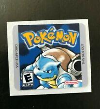 Gameboy Pokemon Blue  Version Replacement Label Decal Sticker Nintendo Cartridge