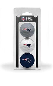 NFL New England Patriots Regulation Size Golf Balls, 3 Pack, Full Color Durable