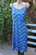 NEW BLUE & white Autograph DRESS Size 16. $59.95 Shirred Back. WIDE Adj.straps