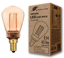 greenandco Vintage LED Lampe Stimmungsbeleuchtung ST45 2W 65 lm 1800K warmweiß