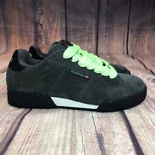 Reebok Nubuck Suede Skateboarding Shoes Men Size 7.5 Athletic Shoes Green  NEW