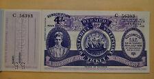 Vintage Bermuda West Indies Lottery Ticket w Stub Never Sold Unused 1936 MINT