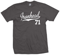 Ironhead 71 Script & Tail T-Shirt - 1971 Motorcycle Bobber Chopper - All Colors