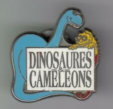 RARE PINS PIN'S .. ANIMAL PREHISTOIRE DINOSAUR DINOSAURE & CAMELEON EXPO 75 ~EO