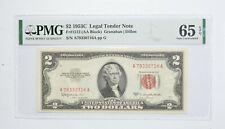 1953-C $2 FR#1512 (AA Block) Red Seal Graded PMG - 65 EPQ Legal Tender *790