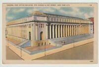Unused Postcard General Post Office Building New York City NYC NY