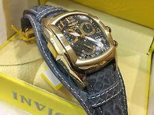 90265 Invicta Men's Tonneau Dragon Lupah Swiss Chronograph Leather Strap Watch