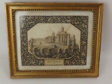Renaissance, Belle Gravure du XVIIe siècle. Chateau d'Aubusson, An 1636. Limoges