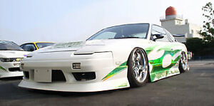 M Nissan Silvia 180SX Uras Style Fiber Glass Full Body Kit