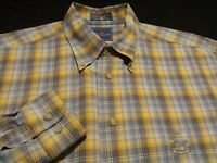 Faconnable Mens Medium Long Sleeve Button-Down Multicolor Plaid Check Shirt