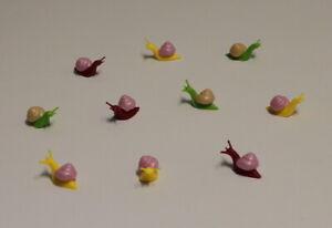 Figuren SCHNECKE - 10-teilig - Basteln - Dekorieren - Miniaturen - Streudeko