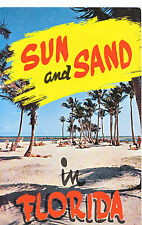 America Postcard - Sun and Sand in Florida   C1312
