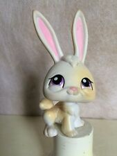 Littlest Pet bunny rabbit - pink ears - purple eyes.  # 231  USA seller 9 pics