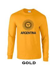 444 Argentina Flag Long Sleeve cool South America sun amazon peso soccer futbol