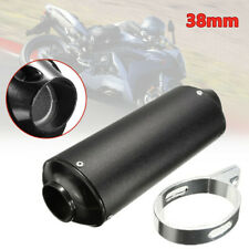38mm ATV Quad Off-road Motorcycle Exhaust Pipe Muffler Silencer Slip On w/Clip
