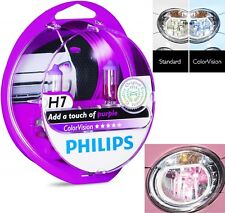 Philips ColorVision H7 55W Purple Two Bulbs Head Light High Beam Reflector Lamp