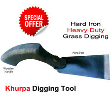Heavy Duty Hard IRON Made GARDEN HAND TOOL Khurpa for Digging