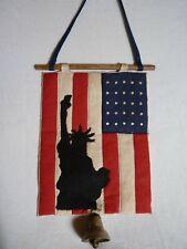 """Vintage Americana American Flag/Statue Of Liberty Door Hanger (7 3/4""""X6"""")"""