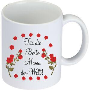 Tasse für die Beste Mama der Welt Muttertag Muttertagstasse Mami Geburtstag Mum