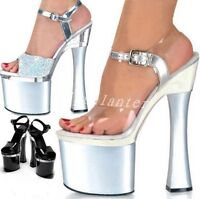 Sexy Ladies Super High Heel Platform Shoes Peep Toe Ankle Strap Clubwear Sandals