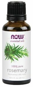 NOW Foods Pure Rosemary Essential Oil 1oz. Bottle Topical Diffuser Burner
