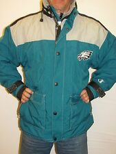 Eagles Vintage Champion Quilted Lined Insulated, Hooded Jacket Football SizeXL