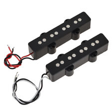 Pair of 4 String Bridge Neck Pickups Set for Fender Jazz Bass Black Open Style