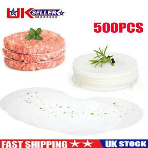 500Pcs Hamburger Maker Wax Discs Non Stick BBQ Barbecue Paper Beef Burger Discs