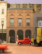 #115 HO scale background building flat  CITY ART BUILDING   *FREE SHIPPING*