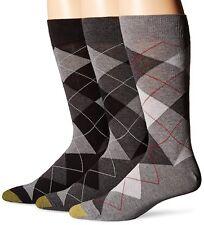 Gold Toe Men's Classic Cotton Argyle Sock, Assorted Colors, 3 Pairs