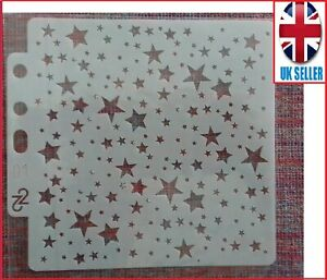 STENCIL STARS Mini Star Drawing Paint Plastic Reusable Scrapbooking card making