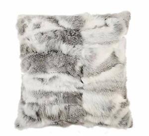 Real Rabbit Fur Pillows Case Cushion Cover Square Throw Decorate Home 18''x18''