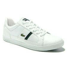 Mens Lacoste Europa Shoes White Leather Casual Sneakers NEW