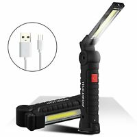 Work Light LED Rechargeable Inspection Lamp Torch Magnetic Stand Garage Workshop