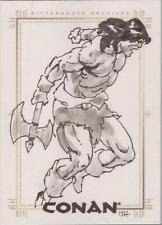 Conan Art of the Hyborian Age - Geoff Isherwood SketchaFEX Sketch Card