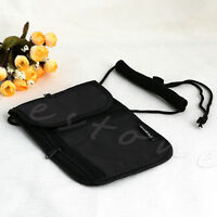 1Pc Travel Secure Passport Neck Pouch Money Cord Clothes Wallet Holder Bag New