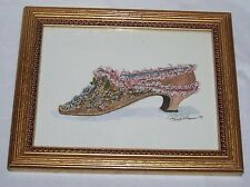 1 Peggy Abrams 6 x 8 Framed Shoe Print - Very Good Condition (Free Ship!)